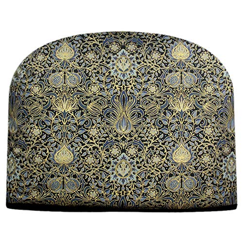 Blue Moon Tea Cozy William Morris Victoria & Albert Holiday Indigo with Gold Details Tea Cozy Double Insulated Teapot Cozy Keeps Tea Cosie- Ships the Same Business Day, Order by 10 AM Pacific Time