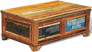 vidaXL stolik kawowy z możliwością przechowywania vintage odzyskany drewniany stojak na herbatę