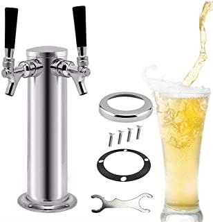 Torre de cerveza de acero inoxidable de torre de cerveza (doble grifos) para la casa Bar Pub uso casa cerveza de barril Bomba De Tap