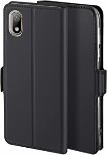 Libra_J Case for Huawei Y5 2019/Honor 8S case, [Stand Function] [Card Slot] [Magnet] [Anti-Slip] Premium Leather Flip Case Cover for Huawei Y5 2019/Honor 8S case (Black)