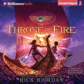 The Throne of Fire     Kane Chronicles, Book 2              Written by:                                                                                                                                 Rick Riordan                               Narrated by:                                                                                                                                 Kevin R. Free,                                                                                        Katherine Kellgren                      Length: 12 hrs and 48 mins     16 ratings     Overall 4.9