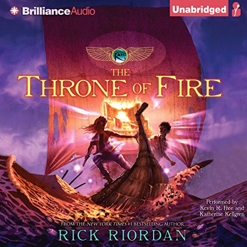 The Throne of Fire audiobook cover art