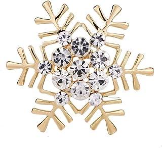 Bullidea Ladies brooch Metal Enamel Pin Badge Brooch Rhinestone Christmas Birthday Festive Brooch Pin Corsage for Suit Shi...