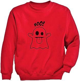 Tstars - かわいいハロウィンゴーストギフト キュートハロウィンゴーストプレゼント 愉快なハロウィンゴーストの贈り物 キッズスウェットシャツ
