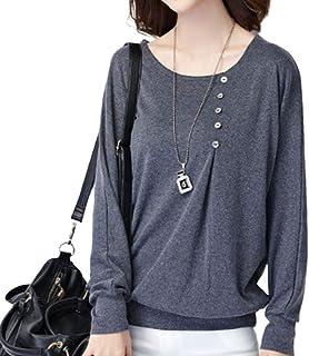 [小駿 SYOU SHUN TIYAN] tシャツ 長袖 カジュアル レディース ゆったり カットソー トップス 無地 通勤 大きいサイズ3色
