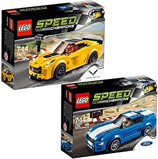 Lego Speed Champions 2pcs. set 75870 75871 Chevrolet Corvette Z06 + Ford Mustang GT by LEGO