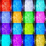 16 Color Changing Curtain Lights, 300 LED Multicolor Backdrop Window String Lights, Colorful Fairy Lights USB Twinkle Light for Christmas, Halloween, Party Decor-9.8ftx9.8ft(RGB)
