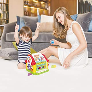 Kimanli Multi-Function House Shape Cognition Matching Toy with Music Children's Toy Set