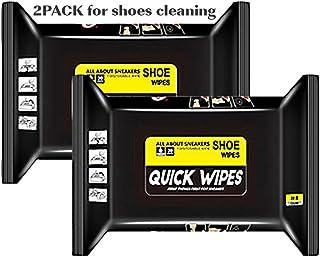 Set di salviette usa e getta per scarpe, da viaggio, portatile, usa e getta, per la pulizia di scarpe bagnate, colore bian...