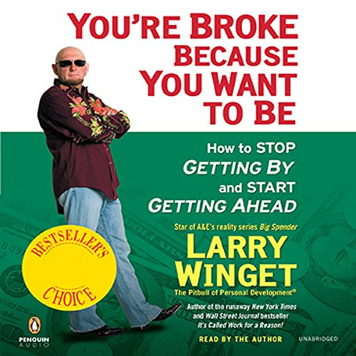 You're Broke Because You Want to Be audiobook cover art