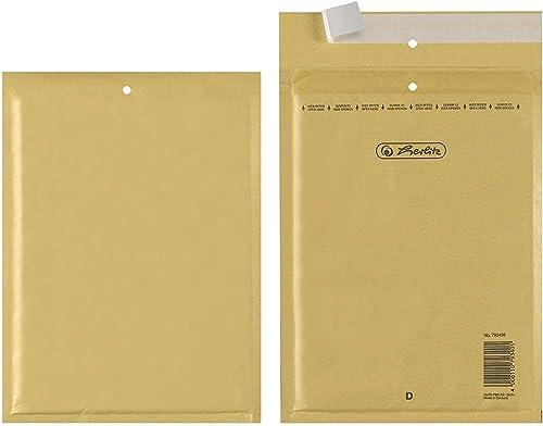 Herlitz 793406 Pack de 10 enveloppes matelassées D/4 180 x 260 mm (Marron) (Import Allemagne)