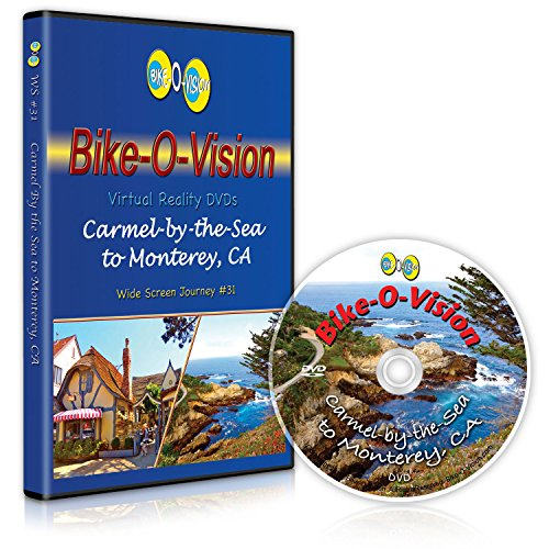 Bike-O-Vision - Virtual Cycling Adventure - Carmel-by-the-Sea to Monterey, CA - Perfect for Indoor Cycling and Treadmill Workouts - Cardio Fitness Scenery Video (Widescreen DVD #31)