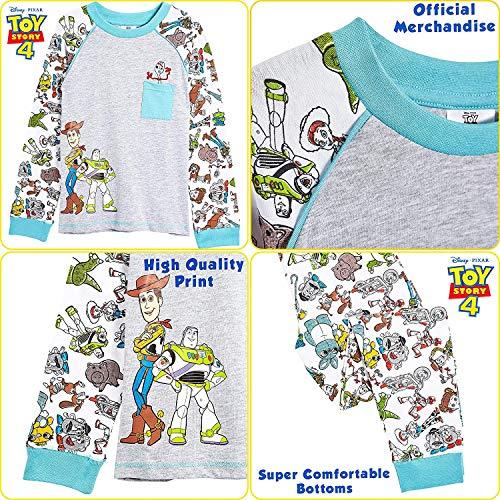Disney Pigiama A Maniche Lunghe per Ragazzi di Toy Story 4 con Woody, Buzz Lightyear E Forky   Pigiami Due Pezzi 100% Cotone   Regalo per Bambini dai 18 Mesi Ai 6 Anni (4/5 Anni)
