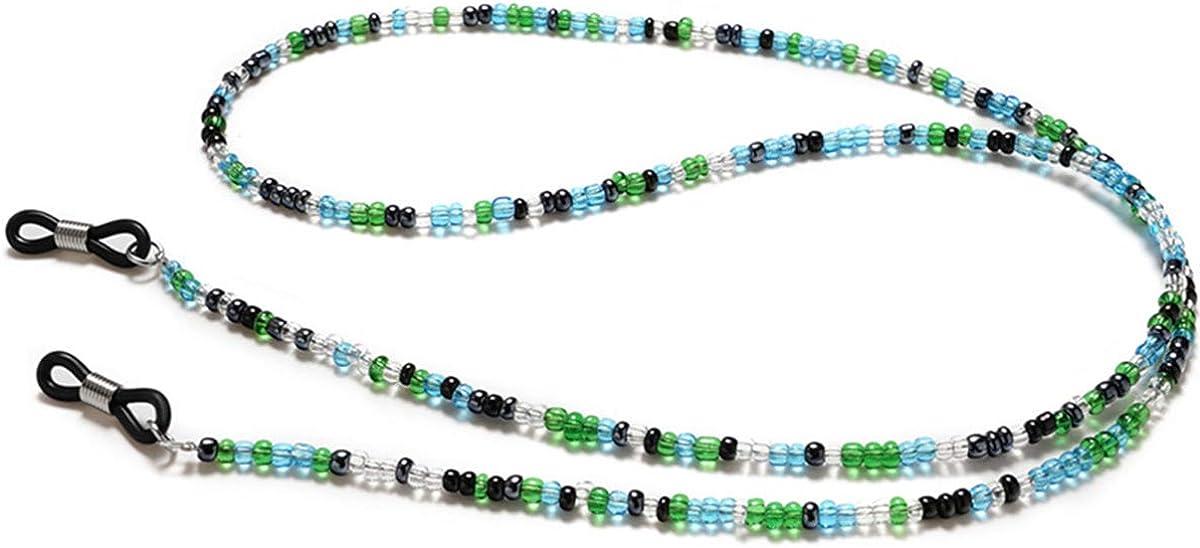 Beaded Eeyglass Chains Glasses Lanyard for Women Eyeglasses Holder Strap Cord Chain