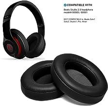 Almohadillas para Auriculares, WADEO Reemplazo Almohadilla de Repuesto Auriculares Cojines de Oído Espuma para Beats Studio 2.0 Wired/Wireless B0500 B0501 & Beats Studio 3.0, Color Negro