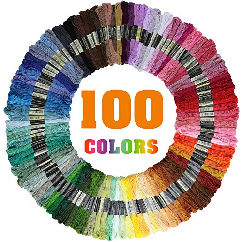 Leisial 200 pcs Hilos Cross Stitch Bordado Hilos Punto de Cruz L/ínea de Costura Coser Hilos Conjunto de Agujas Bordado de Diferentes Colores