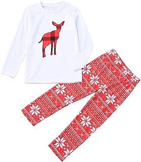 kingfansion Women Family Matching Dad, Mum, Big, Little Family Matching Christmas Pyjamas