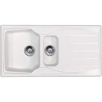 Astracast Sierra 1 5 Bowl Reversible Teflite Kitchen Sink In White Waste Kit Amazon Co Uk Diy Tools