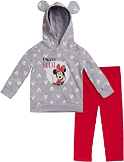 Disney Baby Girls Minnie Mouse 2-Piece Hoodie and Leggings Pants Set (Newborn and Infant)