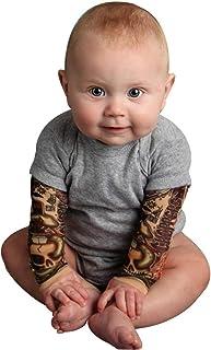 sunnymi Baby Kinder Kleidung sunnymi  Baby Boy Tätowierung gedruckt Langarm Patchwork Strampler Herbst Body