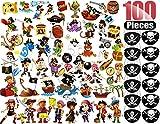 ANKKY Augenklappe Piratund Piraten Tattoo Kinder Set 100Stk für Karneval, Halloween, Weihnachten und Geburtstag Partys