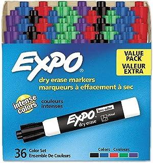 نشانگرهای پاک کردن خشک بوی EXPO ، نوک تراشه ، طبقه بندی شده ، 36 تعداد