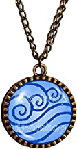 Fashion Jewelry Water Tribe Symbol Art Avatar the last Airbender Necklace Legend of Korra Pendant Cosplay Charm Gift