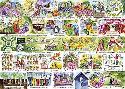 Yzqxiongtu Kruiwagens en putten Legpuzzelspeelgoed 1000 stukjes, houten legpuzzel, educatief legpuzzelspeelgoed voor volwassenen