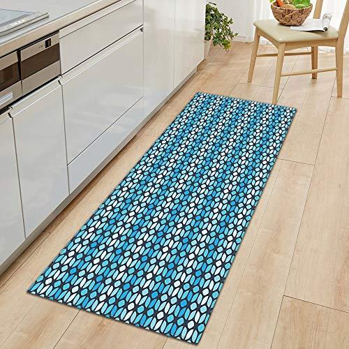 Küchenteppich Schlafzimmer Eingang Fußmatte Badezimmer Anti-Rutsch-Matte Home Long Strip Flur Bodenmatte Dekoration A3 50x80cm