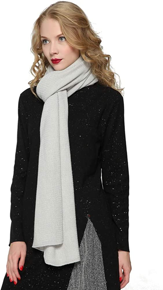 ZORJAR Women's Men Fashion Long Shawl Plush Knit Winter Warm Large Scarf