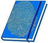 Schreibbuch 'Fingerabdruck' - blau