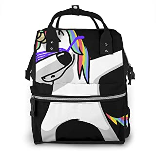Dabbing Unicorn Hip Hop.png Diaper Bag Multi-Function Waterproof Travel Mummy Backpack Nappy Bags for Baby Care, Large Capacity, Stylish and Durable