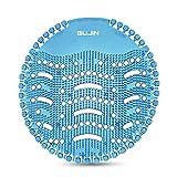 GUJIN [10 Stück] Urinalsieb mit Duft, Universal Urinaleinlage Einsatz, Spritzschutz Pissoirsieb Lufterfrischer für jedes Pissoir(Blau)