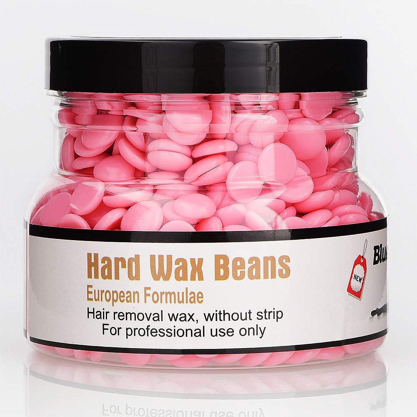 規模歯操作Rabugoo 250g美容脱毛ハードワックス豆フェイス脇の下のアーム脚のための安全な恒久的な脱毛剤 rose