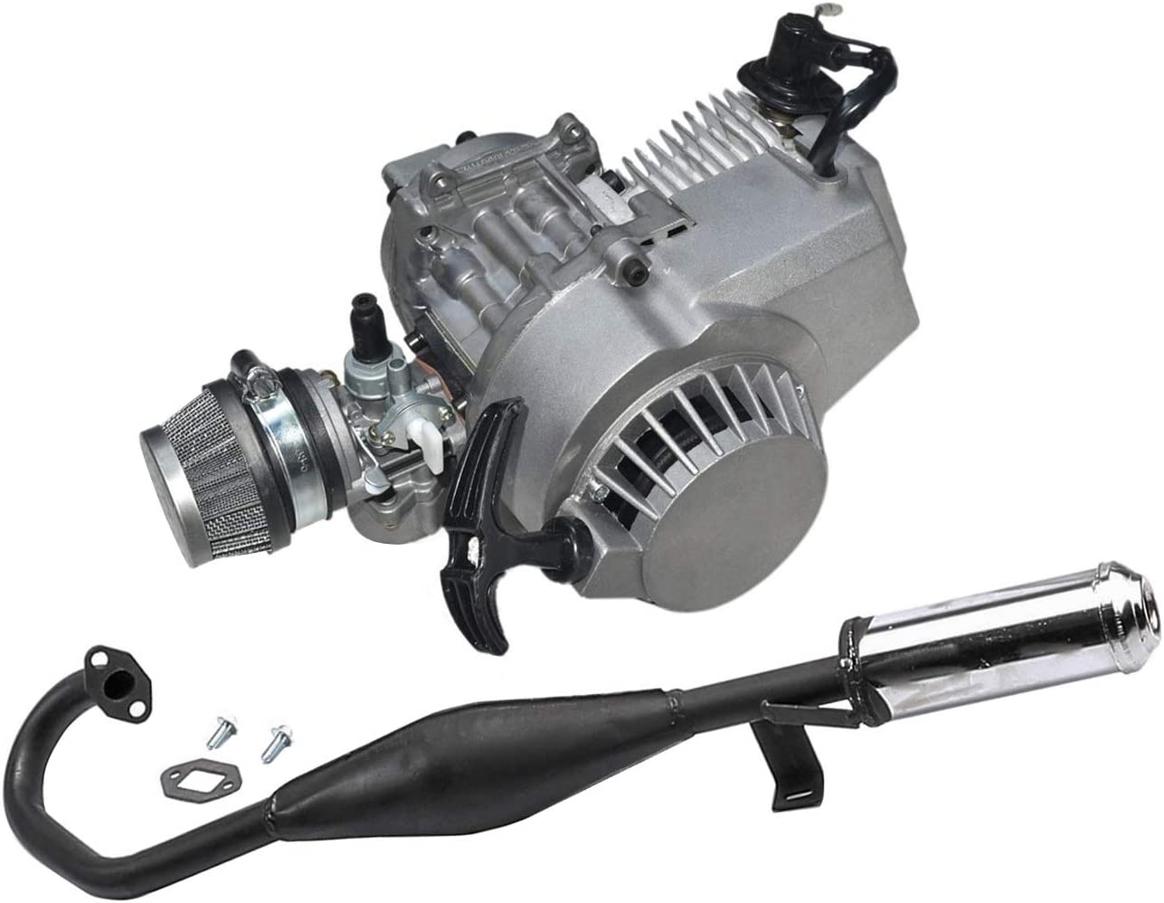 WPHMOTO Ranking TOP9 Challenge the lowest price 49cc 2-Stroke Engine Motor for Pipe Exhaust and Muffler