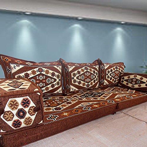 Spirit Home Interiors Bodencouch Sitz Boden Sitz Sofa Boden Couch Ecksofa Eckcouch Teppich