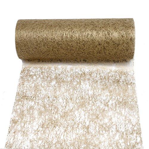 Camino de mesa de fieltro (23cm, 20metros), precio excelente., vellón, dorado, 23cm breit