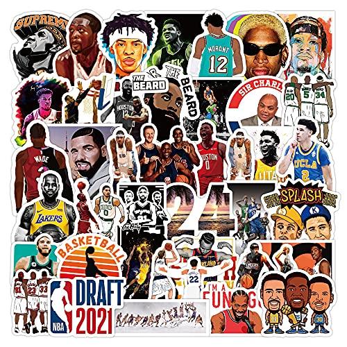 DSSK Basketball Star NBA Star Graffiti Stickers Calcomanías de Vinilo Impermeables Calcomanías de Vinilo para Motocicleta Casco de Coche Pegatinas para refrigerador 50 Uds