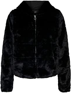 Only Onlchris Fur Hooded Jacket Otw Noos Chaqueta para Mujer