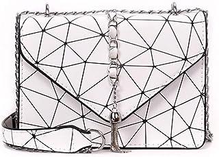 New Trend Casual Fashion Handbag Shoulder Slung Small Handbag. jszzz (Color : White)
