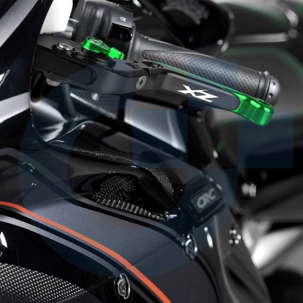 Gr/ün+Gr/ün+Schwarz+Schwarz Motorrad Einstellbar Bremskupplungshebel CNC Aluminium F/ür Kawasaki ZX6R//636 ZX-6R 2007-2018 ZX10R ZX-10R 2006-2015