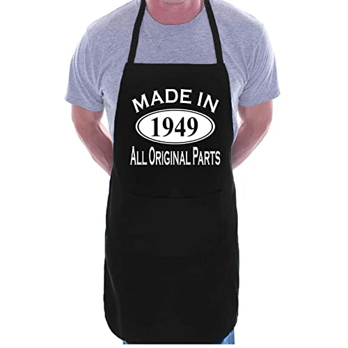 Made In 1949 70th Birthday BBQ Cooking Funny Novelty Apron