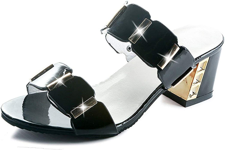 Tiwcer Crystal Women Classic Sandals Shiny Square Heel Peep Toe Party High Heels shoes Bling Black Sandalia