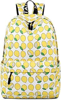 Daypacks Rucksack Retorts Back Wallet Girls High School Student Student Commuter Lightweight Large Capacity a4 Size Womens Backpack (Color : Lemon)