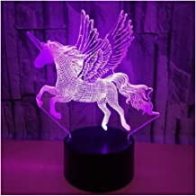 New Unicorn Night Light Gifts for Girls - 3D LED Nightlight Lamps Girls Bedroom Unicorns - Lights Unicorn Toys Birthday fo...