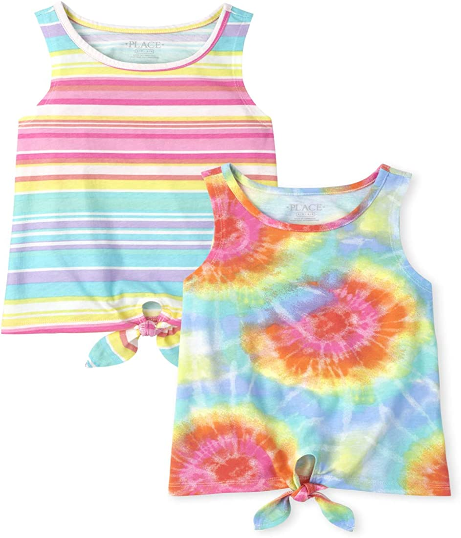 The Children's Place Max 59% OFF Girls Rainbow Print 2-Pa Jacksonville Mall Tie Top Tank Front