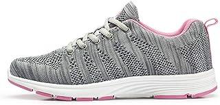 Zapatillas de Correr para Mujer Malla Transpirable Suave y Ligera Zapatillas de Deporte Caminar al Aire Libre Correr Antid...