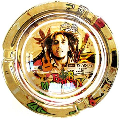 Bob Marley Live en Concierto marihuana Weed de cristal redondo cenicero