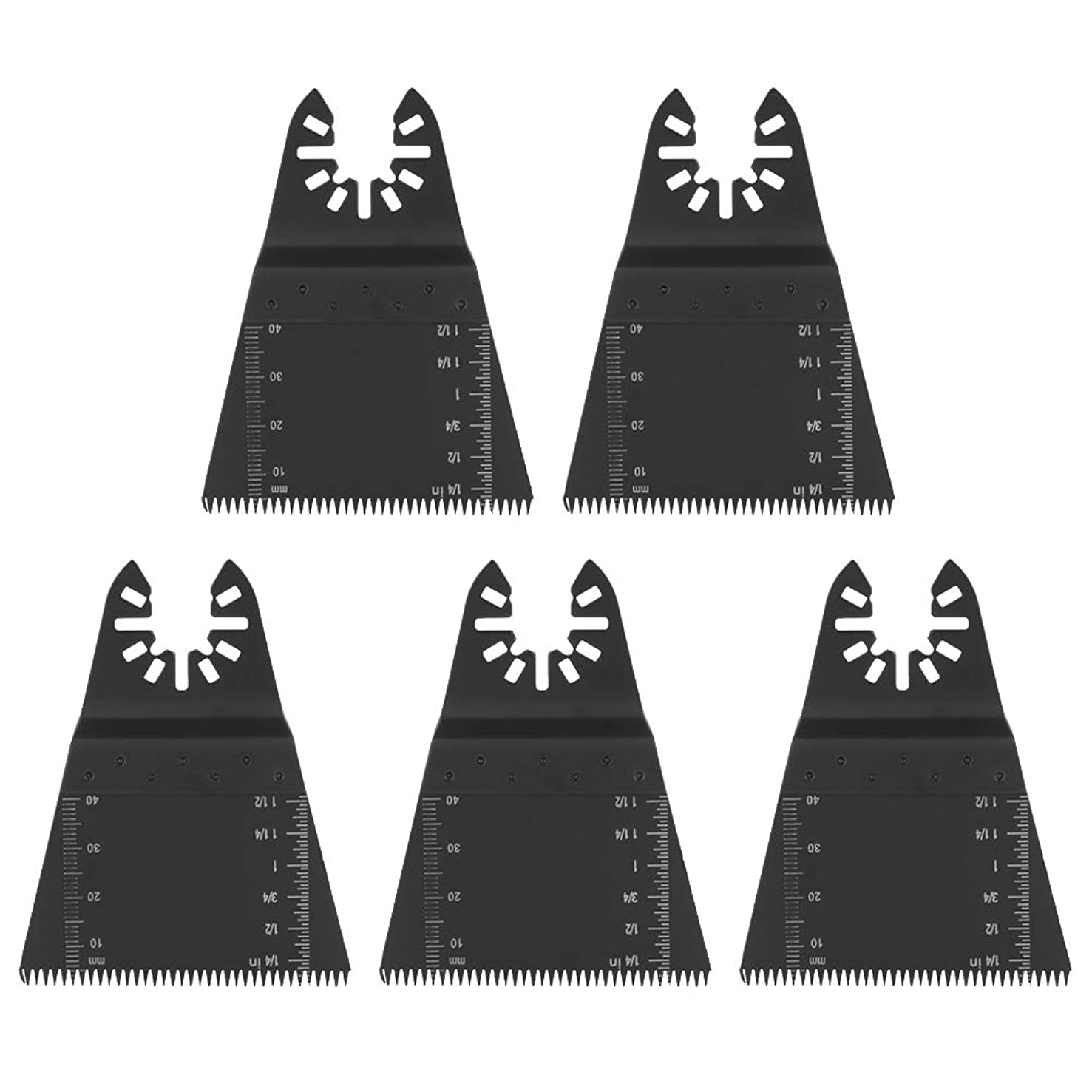 Aufee 5 Pcs Oscillating Saw Blades, Material of High Carbon Steel, Oscillating Tools Accessories for Oscillating Multi Tool
