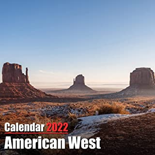Calendar 2022 American West: Beautiful American West Photos Monthly Mini Calendar   Small Size